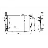 Radiateur, refroidissement du moteur 640 x 462 de 04 à >> - OEM : 253102E800