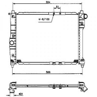 Radiateur, refroidissement du moteur 500 x 381 x 16 de 97 à 99 - OEM : 96181369