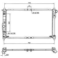 Radiateur, refroidissement du moteur 655 x 384 x 16 de 97 à 99 - OEM : 96351931