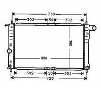 Radiateur, refroidissement du moteur 654 x 380 de 99 à 04 - OEM : P96273596