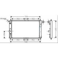 Radiateur, refroidissement du moteur 654 x 380 de 99 à 04 - OEM : P96413567