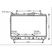 Radiateur, refroidissement du moteur 370 x 700 de 03 à 06 - OEM : P96553244