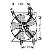 Ventilateur refroidissement du moteur de 03 à 06 - OEM : 96553377