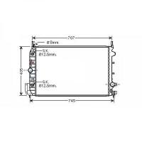 Radiateur, refroidissement du moteur 650 x 415 x 27 de 03 à >> - OEM : 13200486
