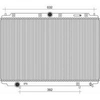 Radiateur, refroidissement du moteur 402 x 660 x 22 de 99 à 04 - OEM : 8601843