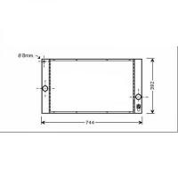 Radiateur, refroidissement du moteur 648 x 370 x 24 de 03 à >> - OEM : 8603634
