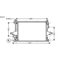 Radiateur, refroidissement du moteur 622 x 426 de 98 à 06 - OEM : 8603840