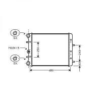 Radiateur, refroidissement du moteur 430 x 415 x 23 [mm] de 00 à >> - OEM : 6Q0121253J
