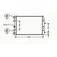 Radiateur, refroidissement du moteur 632 x 395 x 24 de 00 à >> - OEM : 6Q0121253R