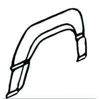 Panneau latéral arrière droit bord de roue de 86 à 91
