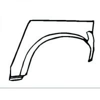 Panneau latéral arrière gauche bord de roue de 93 à 00