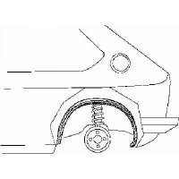 Passage de roue arrière gauche intérieur de 98 à 04