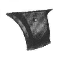 Panneau latéral arrière droit angulaire de 83 à 89