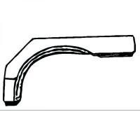 Panneau latéral arrière droit bord de roue de 86 à 90