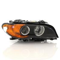 Phare avant droit BMW E46 COUPE Feu orange - fond noir 03 => 06 = LPH261