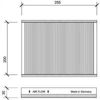 Filtre à air d'habitacle charbon actif - OEM : 6447.LN